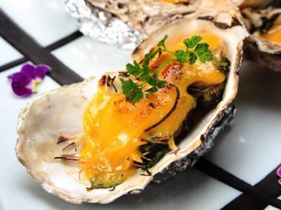 牡蠣と芹(せり)の味噌グラタン♪