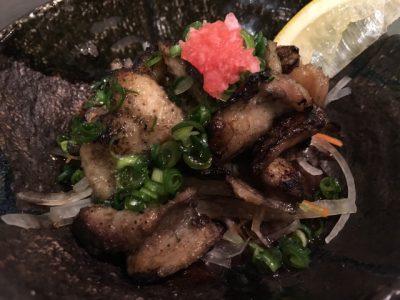江田島地鶏皮の炙りポン酢