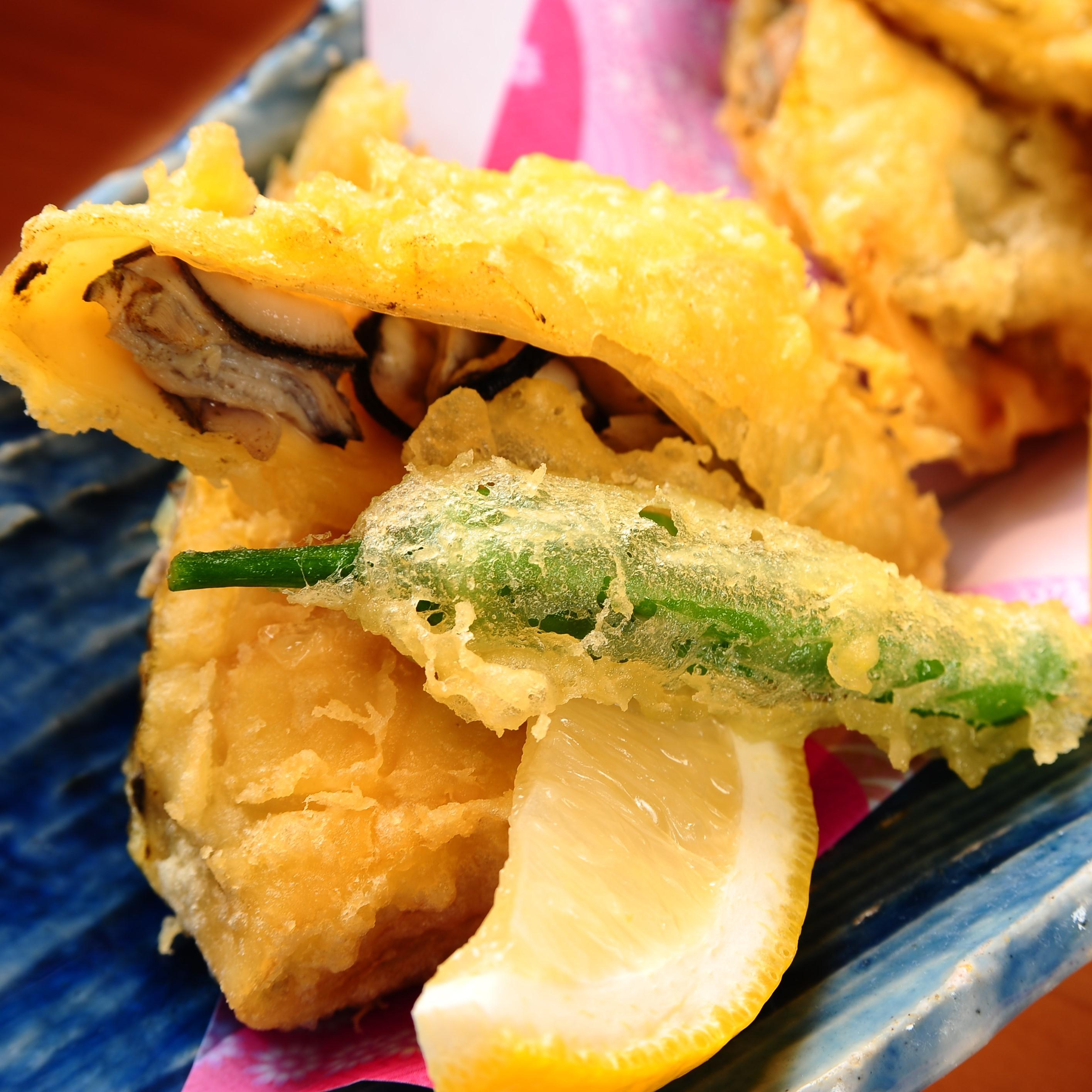 牡蠣と冬牛蒡の東寺揚げ
