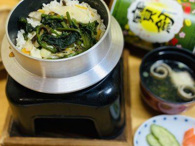 山菜釜飯のテイクアウト♪