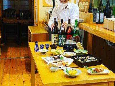 会席料理コースの撮影