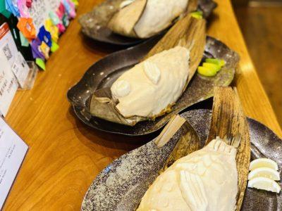鯛の塩釜焼き