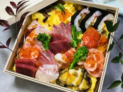 ひなちらしに「祝い寿司」